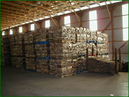 packaged bundled firewood inventory